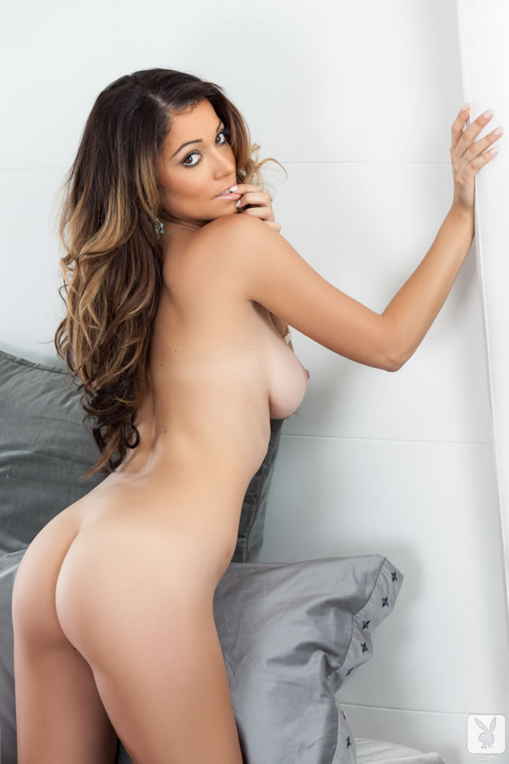 Flexible Brunette Leah Gotti Strips And Spreads