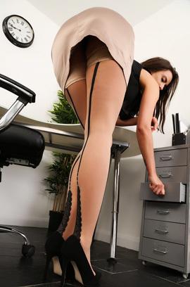 Sarah Gets Naked At Work