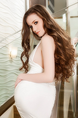 Smooth Emily Bloom Wears Hot White Dress Perfectly