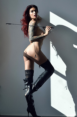 Tera Patrick In Long Black Boots