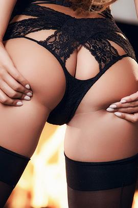 Eva Lovia Very Sexy In Black Lingerie
