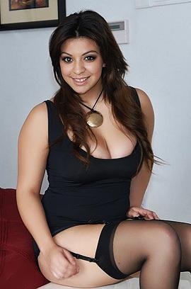 Big Titted Latina In Black Stockings