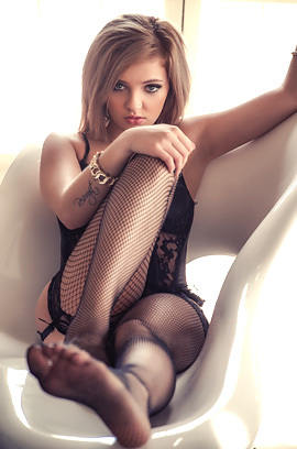 Melody Vee In Black Corset