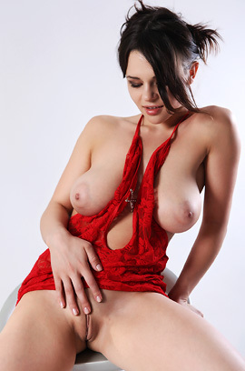 Busty Conchita Strips In Casting