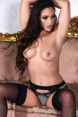 Anastasia Harris In Sexy Black Lingerie