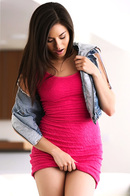 Shyla Jennings Strips Out Of Her Sexy Pink Dress