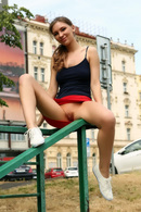 Sexy Goddess Galina A Flashes Her Pussy In Public Places